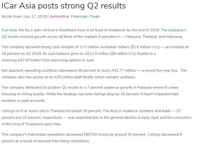 iCarAsia Press Release